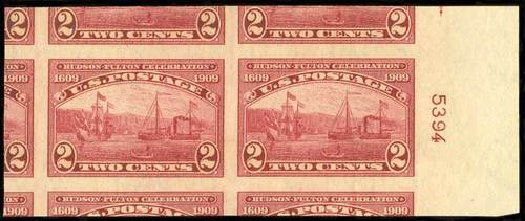 Costs of US Stamp Scott Catalogue #373 - 1909 2c Hudson-Fulton Imperf. Spink Shreves Galleries, Jul 2015, Sale 151, Lot 276