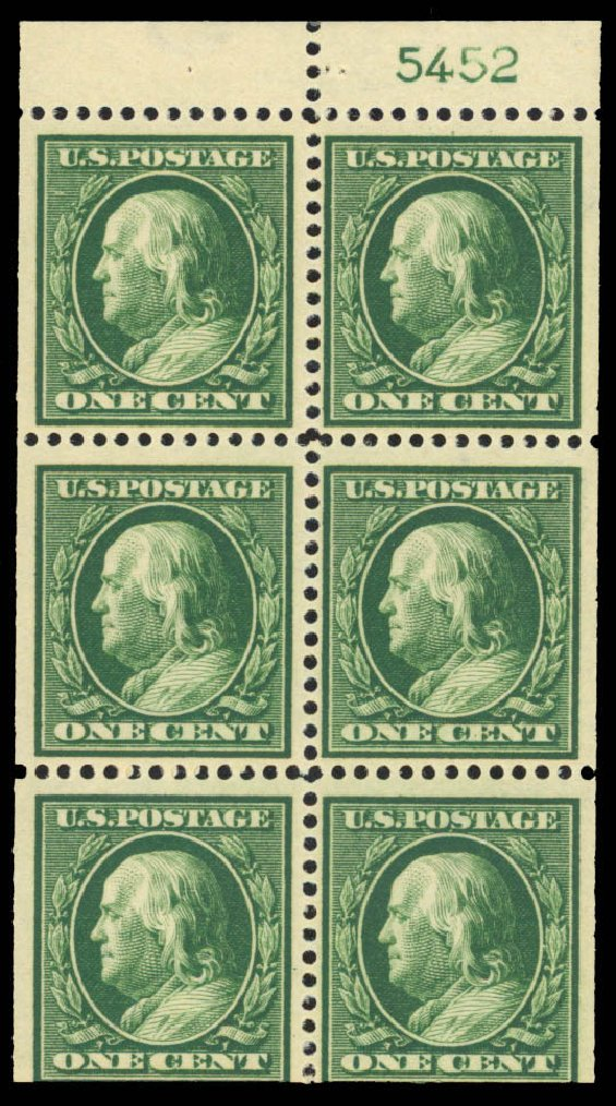 US Stamp Price Scott Catalogue # 374: 1c 1910 Franklin Perf 12. Daniel Kelleher Auctions, Jan 2015, Sale 663, Lot 1731