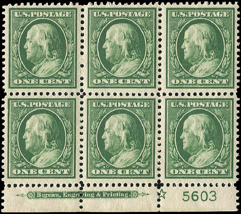 Value of US Stamps Scott Catalogue 374 - 1910 1c Franklin Perf 12. Regency-Superior, Nov 2014, Sale 108, Lot 1315