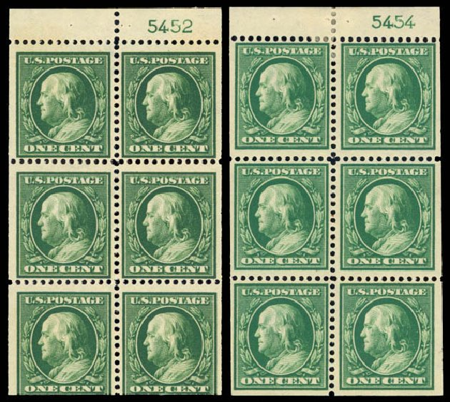 Costs of US Stamp Scott # 374 - 1c 1910 Franklin Perf 12. Daniel Kelleher Auctions, Jan 2015, Sale 663, Lot 1732