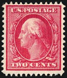 Prices of US Stamps Scott Cat. # 375 - 2c 1910 Washington Perf 12. Schuyler J. Rumsey Philatelic Auctions, Apr 2015, Sale 60, Lot 2358