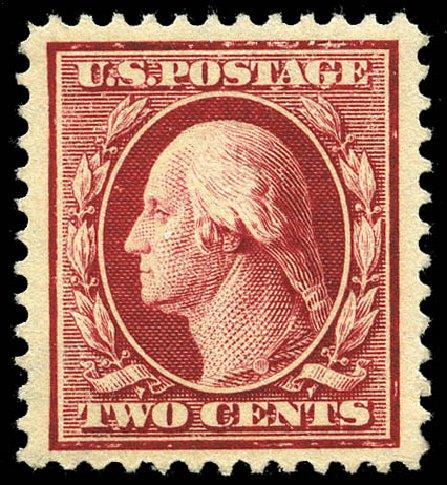 Prices of US Stamps Scott Cat. # 375 - 2c 1910 Washington Perf 12. Matthew Bennett International, May 2014, Sale 350, Lot 529