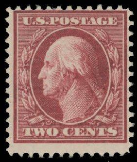 Cost of US Stamp Scott Cat. # 375 - 1910 2c Washington Perf 12. Daniel Kelleher Auctions, Aug 2015, Sale 672, Lot 2690