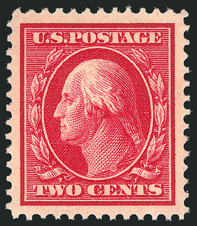 Cost of US Stamps Scott # 375 - 2c 1910 Washington Perf 12. Robert Siegel Auction Galleries, Dec 2013, Sale 1062, Lot 550
