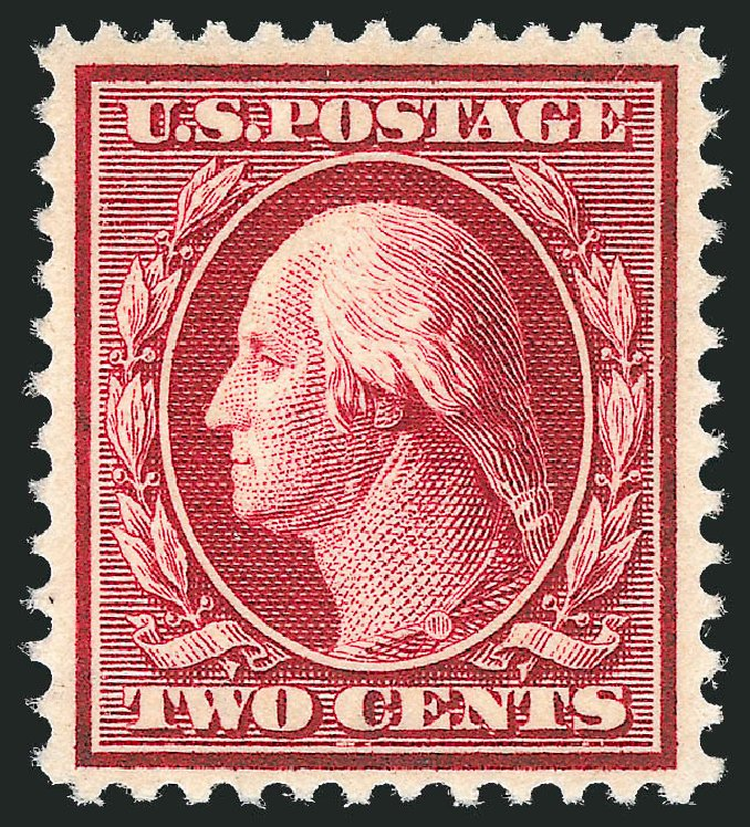 Prices of US Stamp Scott Cat. 375 - 1910 2c Washington Perf 12. Robert Siegel Auction Galleries, Dec 2013, Sale 1062, Lot 551