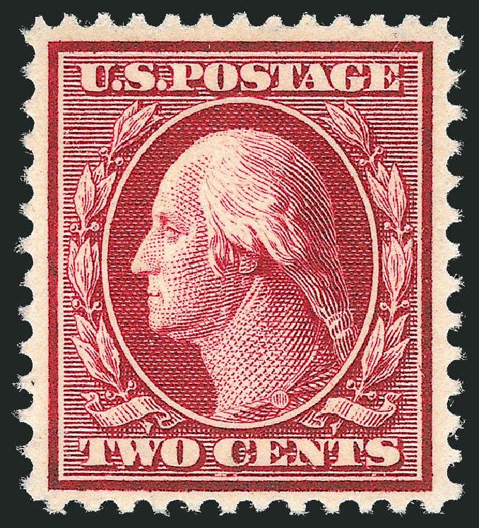 Prices of US Stamp Scott Cat. 375 - 1910 2c Washington Perf 12. Robert Siegel Auction Galleries, Dec 2013, Sale 1062, Lot 551