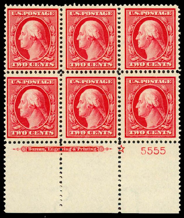 US Stamps Value Scott Catalogue #375: 1910 2c Washington Perf 12. Daniel Kelleher Auctions, Sep 2013, Sale 639, Lot 3484