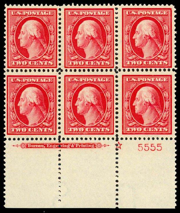 US Stamps Value Scott Catalogue #375: 1910 2c Washington Perf 12. Daniel Kelleher Auctions, Sep 2013, Sale 639, Lot 3484