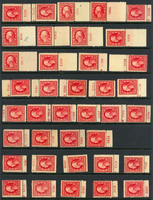 US Stamp Prices Scott Cat. 375: 1910 2c Washington Perf 12. Daniel Kelleher Auctions, Dec 2013, Sale 640, Lot 344