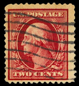 Value of US Stamps Scott 375 - 2c 1910 Washington Perf 12. Daniel Kelleher Auctions, Dec 2013, Sale 640, Lot 346