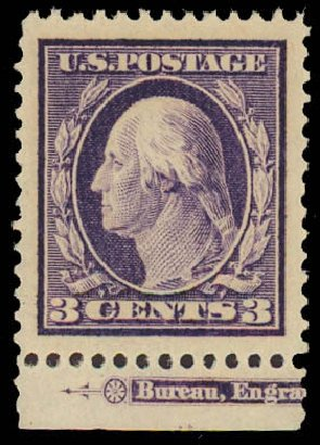 Costs of US Stamps Scott Catalogue #376: 3c 1910 Washington Perf 12. Daniel Kelleher Auctions, Apr 2013, Sale 636, Lot 327