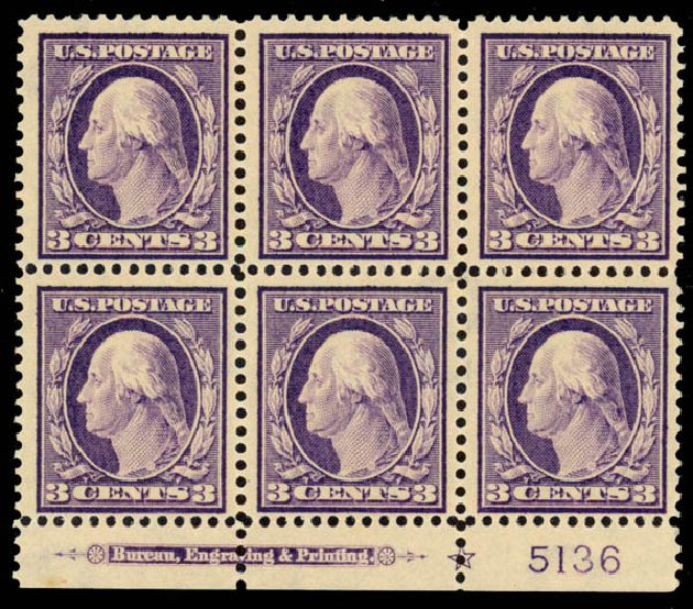 US Stamp Price Scott Cat. 376: 1910 3c Washington Perf 12. Daniel Kelleher Auctions, Sep 2013, Sale 639, Lot 3485