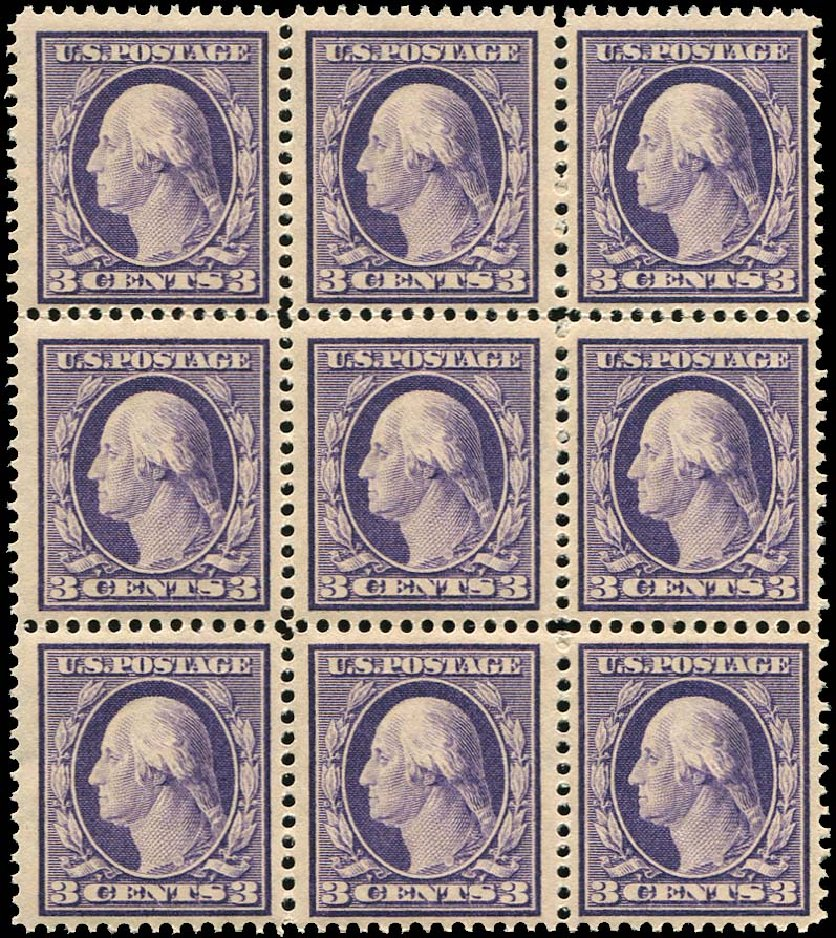 US Stamp Value Scott #376: 1910 3c Washington Perf 12. Regency-Superior, Aug 2015, Sale 112, Lot 766