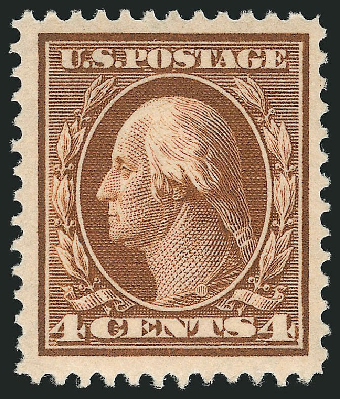 Price of US Stamps Scott Catalogue 377 - 1911 4c Washington Perf 12. Robert Siegel Auction Galleries, Apr 2014, Sale 1068, Lot 249