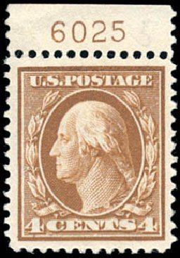 Prices of US Stamp Scott # 377: 1911 4c Washington Perf 12. Schuyler J. Rumsey Philatelic Auctions, Apr 2015, Sale 60, Lot 2801