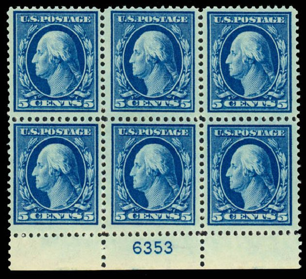 Price of US Stamps Scott Catalogue #378: 1911 5c Washington Perf 12. Daniel Kelleher Auctions, Sep 2013, Sale 639, Lot 3487