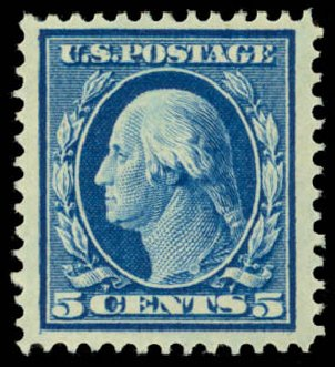 Costs of US Stamp Scott Catalog #378: 5c 1911 Washington Perf 12. Daniel Kelleher Auctions, Dec 2014, Sale 661, Lot 317