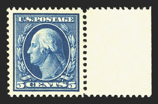 US Stamps Prices Scott Catalog #378 - 5c 1911 Washington Perf 12. Spink Shreves Galleries, Mar 2013, Sale 142, Lot 337