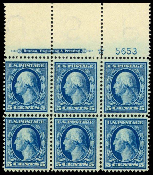 Costs of US Stamp Scott Catalog # 378: 1911 5c Washington Perf 12. Daniel Kelleher Auctions, Apr 2013, Sale 636, Lot 329