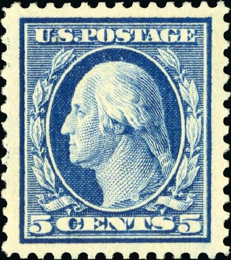 Costs of US Stamp Scott Catalogue # 378 - 1911 5c Washington Perf 12. Spink Shreves Galleries, Jan 2015, Sale 150, Lot 150