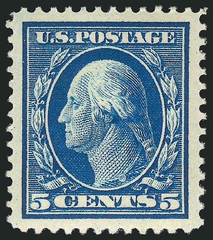 Cost of US Stamps Scott Catalog 378: 5c 1911 Washington Perf 12. Robert Siegel Auction Galleries, Feb 2015, Sale 1092, Lot 1295
