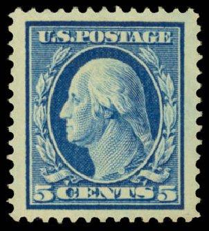 Cost of US Stamps Scott Catalogue #378 - 5c 1911 Washington Perf 12. Daniel Kelleher Auctions, Dec 2014, Sale 661, Lot 316