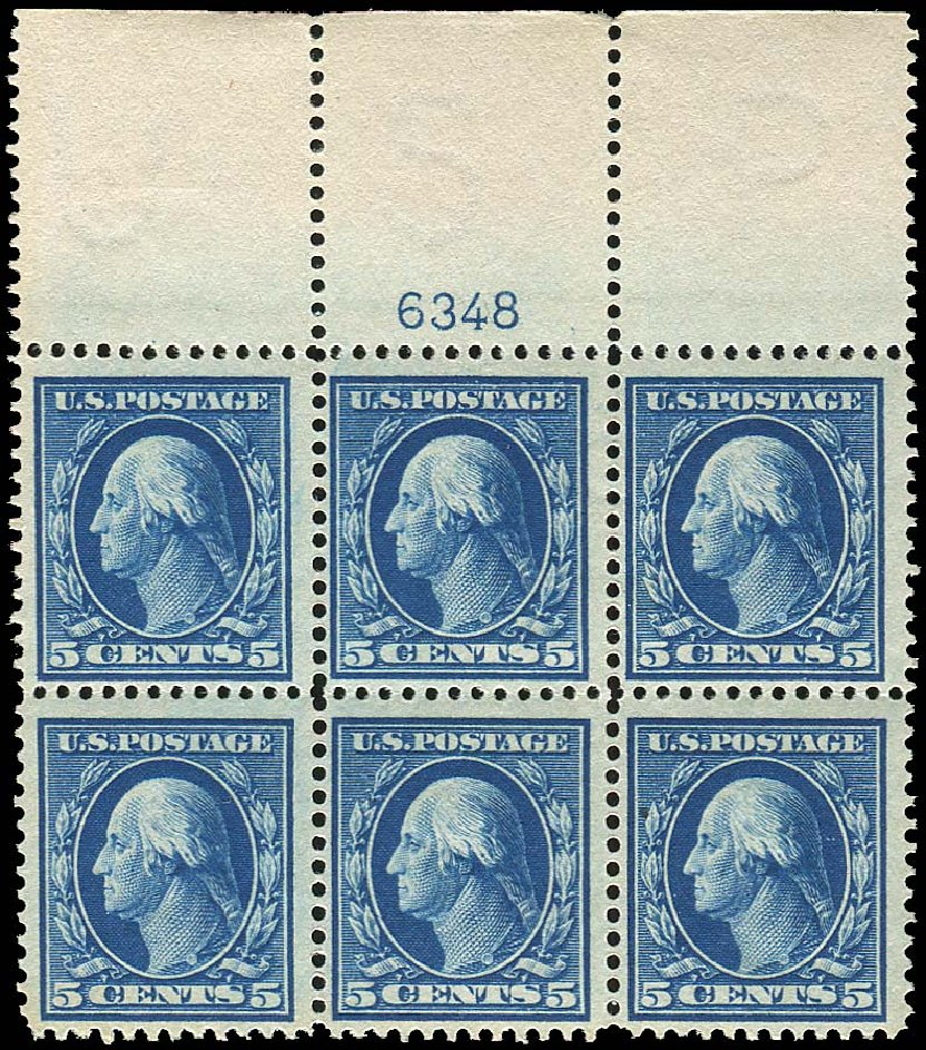 Costs of US Stamps Scott Catalog # 378: 1911 5c Washington Perf 12. Regency-Superior, Nov 2014, Sale 108, Lot 1316
