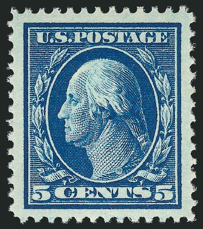 US Stamp Price Scott # 378: 5c 1911 Washington Perf 12. Robert Siegel Auction Galleries, Feb 2015, Sale 1093, Lot 186