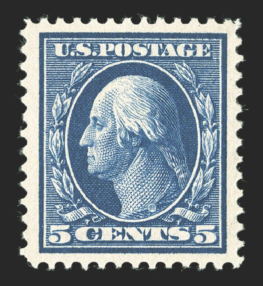 Costs of US Stamps Scott Cat. 378 - 1911 5c Washington Perf 12. Spink Shreves Galleries, Mar 2013, Sale 142, Lot 336