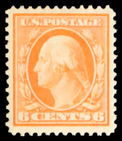 US Stamps Prices Scott Cat. 379: 1911 6c Washington Perf 12. Daniel Kelleher Auctions, May 2014, Sale 652, Lot 558