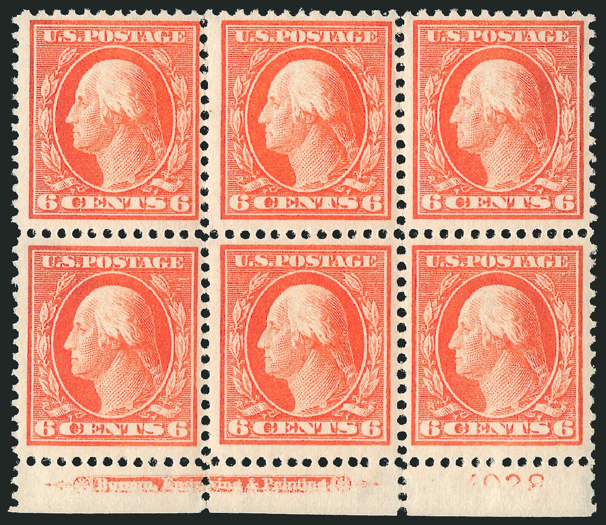 Prices of US Stamp Scott Catalogue #379 - 6c 1911 Washington Perf 12. Robert Siegel Auction Galleries, Feb 2015, Sale 1093, Lot 188