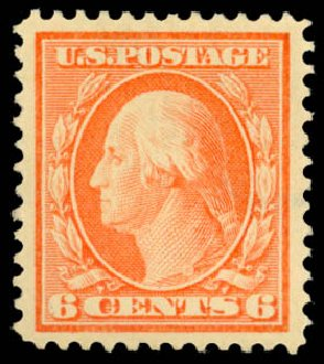 US Stamps Price Scott Catalogue 379 - 6c 1911 Washington Perf 12. Daniel Kelleher Auctions, Dec 2014, Sale 661, Lot 319