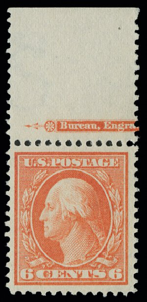 US Stamp Prices Scott Catalogue 379 - 6c 1911 Washington Perf 12. H.R. Harmer, May 2014, Sale 3005, Lot 1261