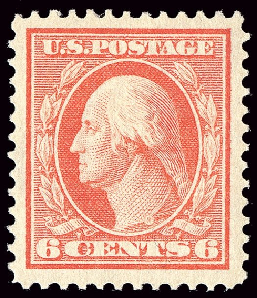 Cost of US Stamp Scott Cat. #379 - 6c 1911 Washington Perf 12. Spink Shreves Galleries, Jan 2014, Sale 146, Lot 384