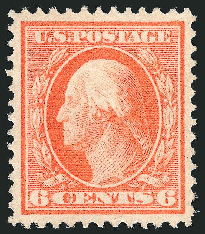 Values of US Stamps Scott # 379 - 6c 1911 Washington Perf 12. Robert Siegel Auction Galleries, Dec 2013, Sale 1062, Lot 555