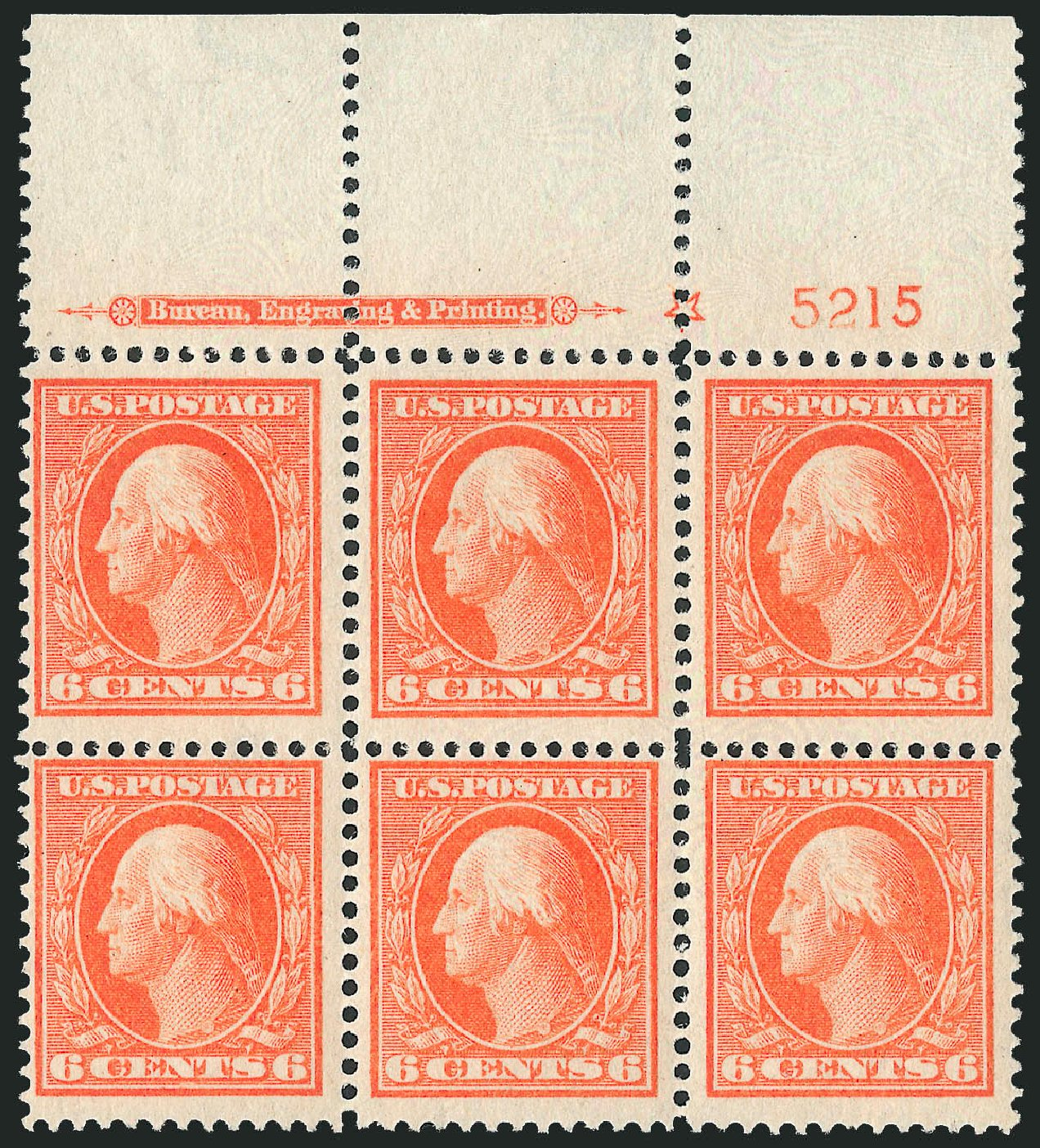 Price of US Stamps Scott Catalogue 379: 6c 1911 Washington Perf 12. Robert Siegel Auction Galleries, Mar 2014, Sale 1067, Lot 1462