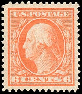 Cost of US Stamps Scott Catalogue # 379: 6c 1911 Washington Perf 12. Regency-Superior, Nov 2014, Sale 108, Lot 773