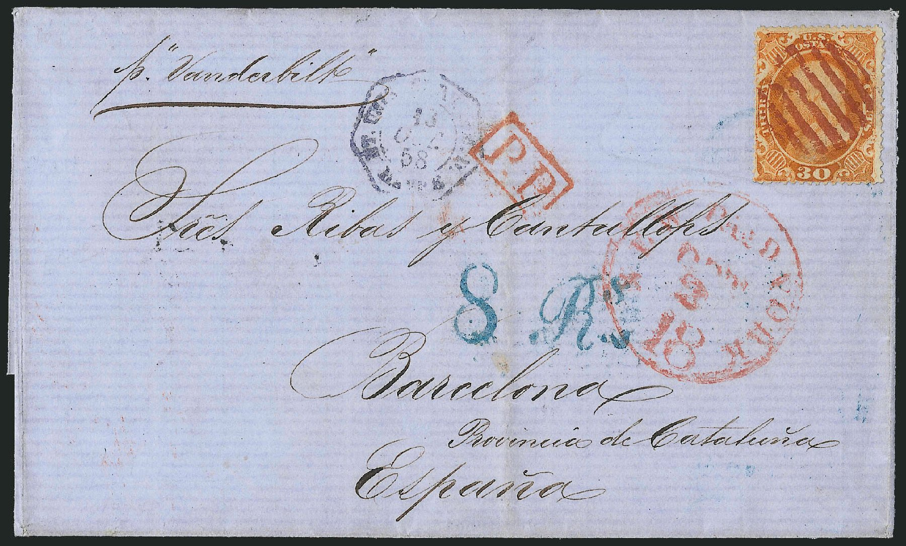 Cost of US Stamp Scott #38 - 1860 30c Franklin. Robert Siegel Auction Galleries, Jun 2015, Sale 1105, Lot 2553