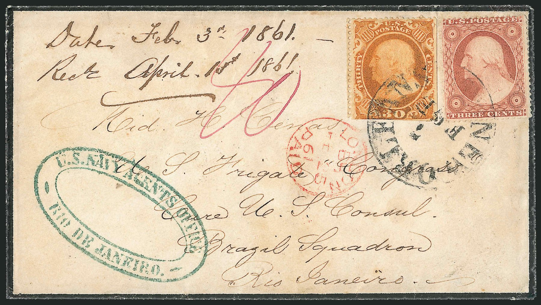 Values of US Stamps Scott Catalog 38 - 1860 30c Franklin. Robert Siegel Auction Galleries, Jun 2015, Sale 1105, Lot 2556