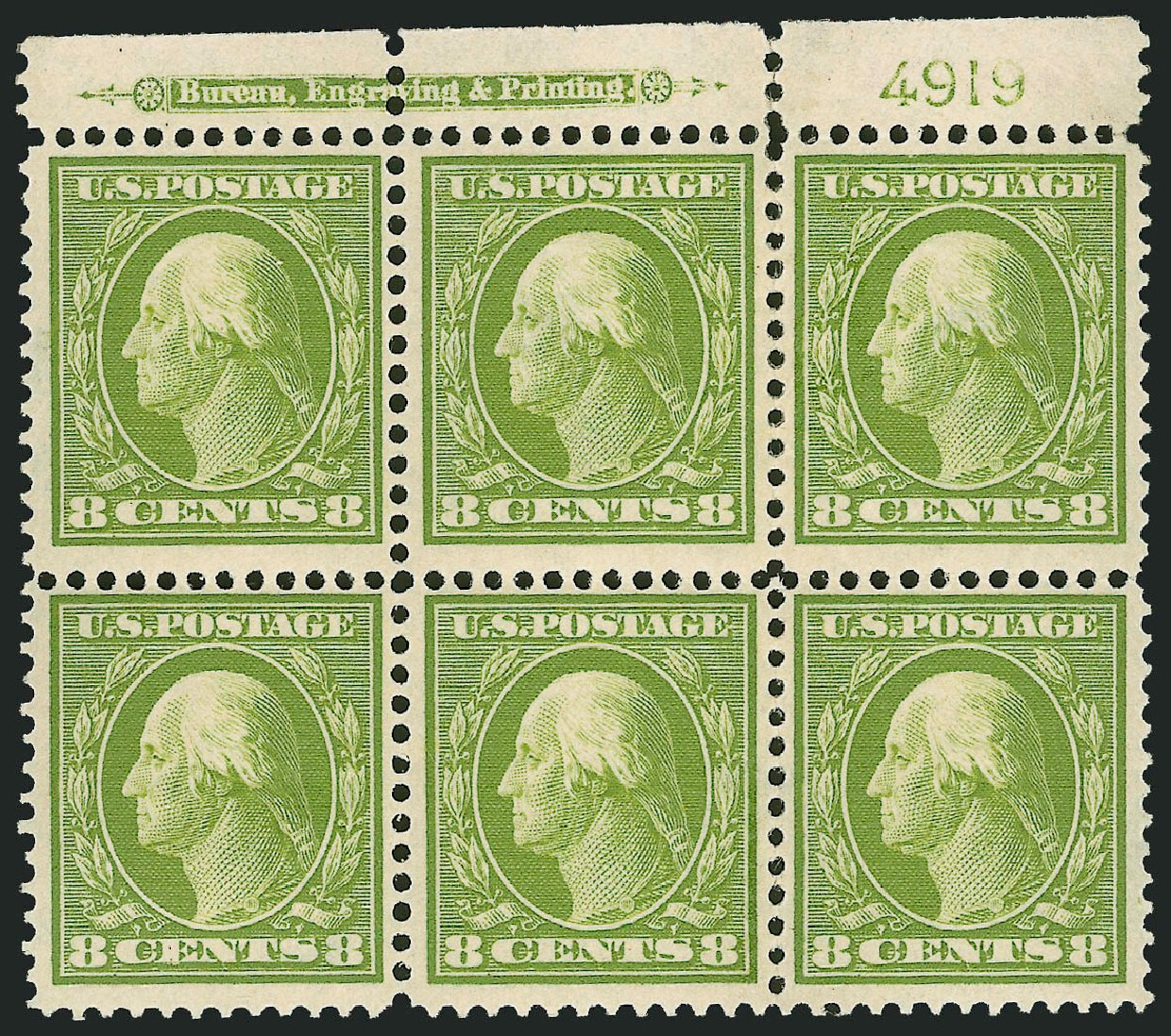 Costs of US Stamps Scott Catalog #380 - 8c 1911 Washington Perf 12. Robert Siegel Auction Galleries, Feb 2015, Sale 1093, Lot 189