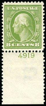 US Stamps Value Scott Cat. #380 - 8c 1911 Washington Perf 12. Schuyler J. Rumsey Philatelic Auctions, Apr 2015, Sale 60, Lot 2803
