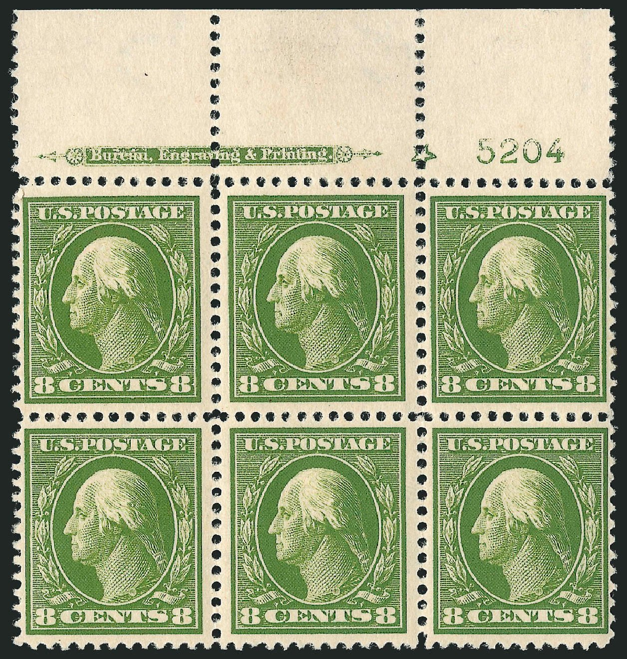 Costs of US Stamps Scott Catalogue 380: 8c 1911 Washington Perf 12. Robert Siegel Auction Galleries, Apr 2015, Sale 1096, Lot 623