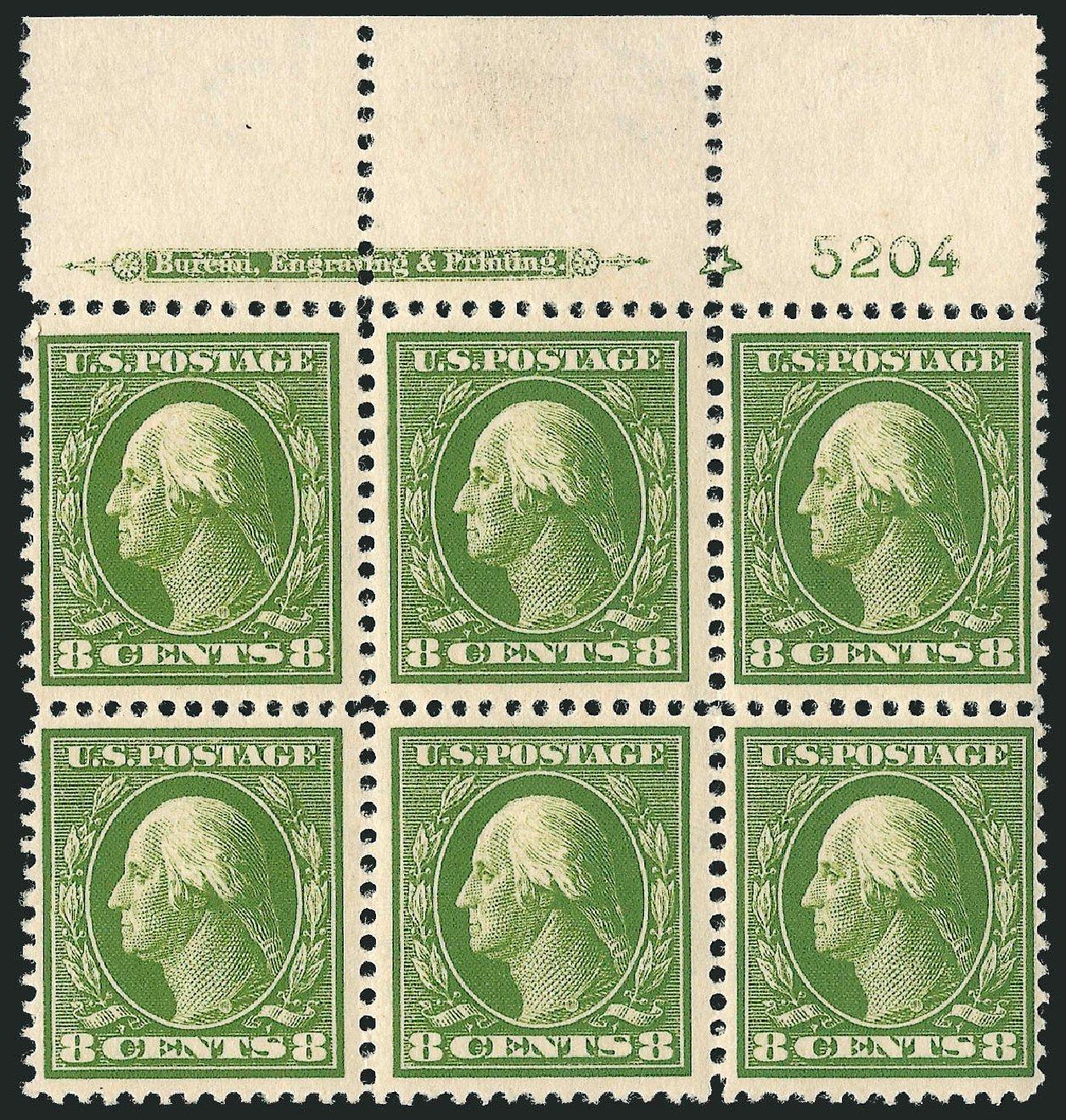 Costs of US Stamps Scott Catalogue 380: 8c 1911 Washington Perf 12. Robert Siegel Auction Galleries, Apr 2015, Sale 1096, Lot 623