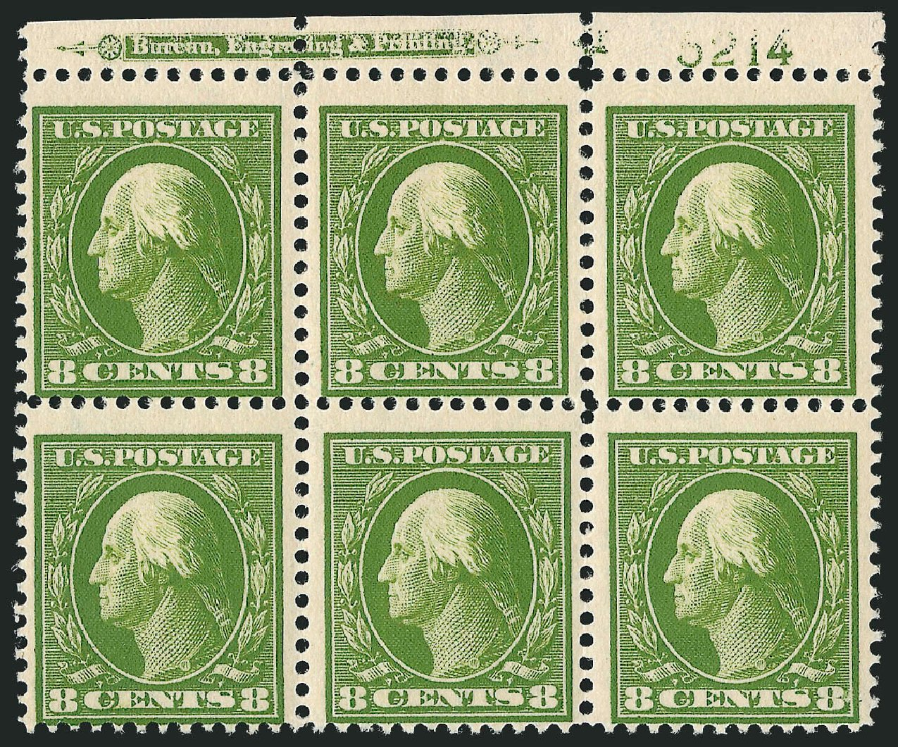Cost of US Stamp Scott Catalog 380 - 8c 1911 Washington Perf 12. Robert Siegel Auction Galleries, Jul 2014, Sale 1077, Lot 246