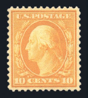 Values of US Stamp Scott Cat. #381 - 10c 1911 Washington Perf 12. Harmer-Schau Auction Galleries, Aug 2015, Sale 106, Lot 1787