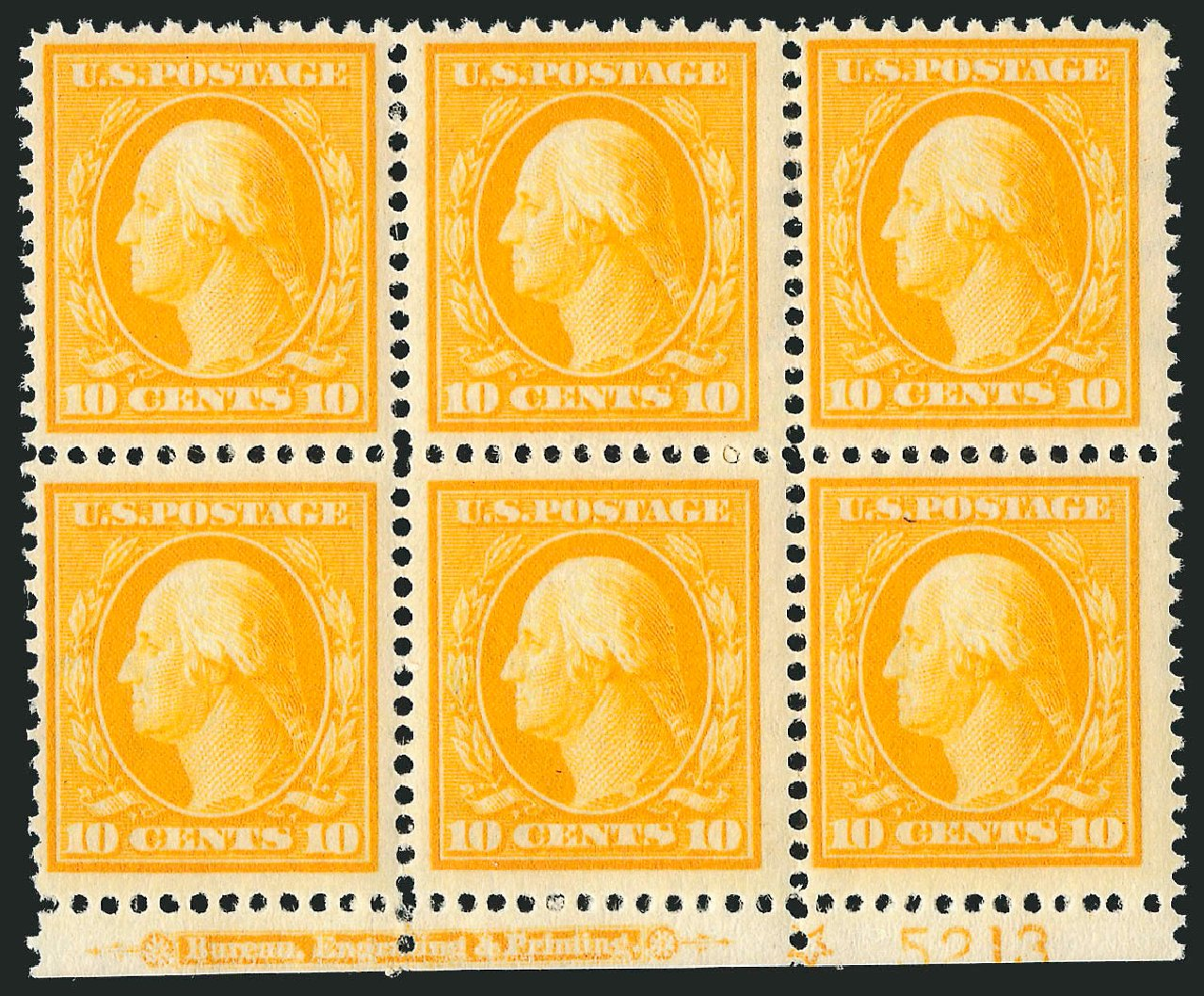 Values of US Stamp Scott Catalogue 381 - 10c 1911 Washington Perf 12. Robert Siegel Auction Galleries, Jul 2014, Sale 1077, Lot 247