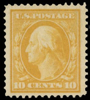 Costs of US Stamps Scott Catalog 381: 10c 1911 Washington Perf 12. Daniel Kelleher Auctions, May 2015, Sale 669, Lot 2938