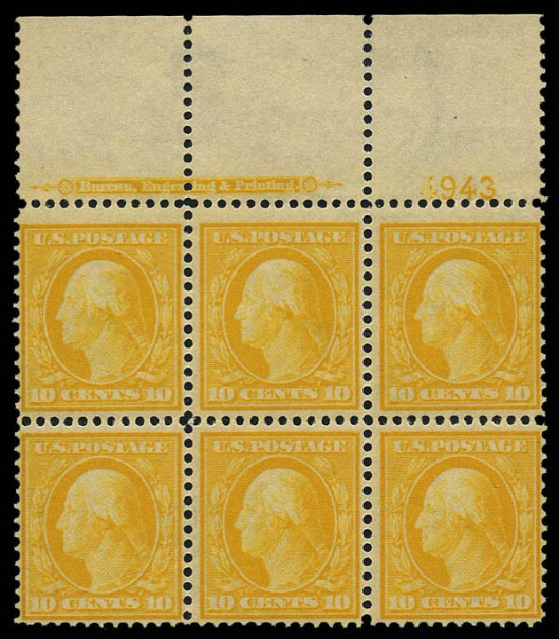 US Stamps Values Scott Catalog #381 - 10c 1911 Washington Perf 12. Matthew Bennett International, May 2014, Sale 350, Lot 531