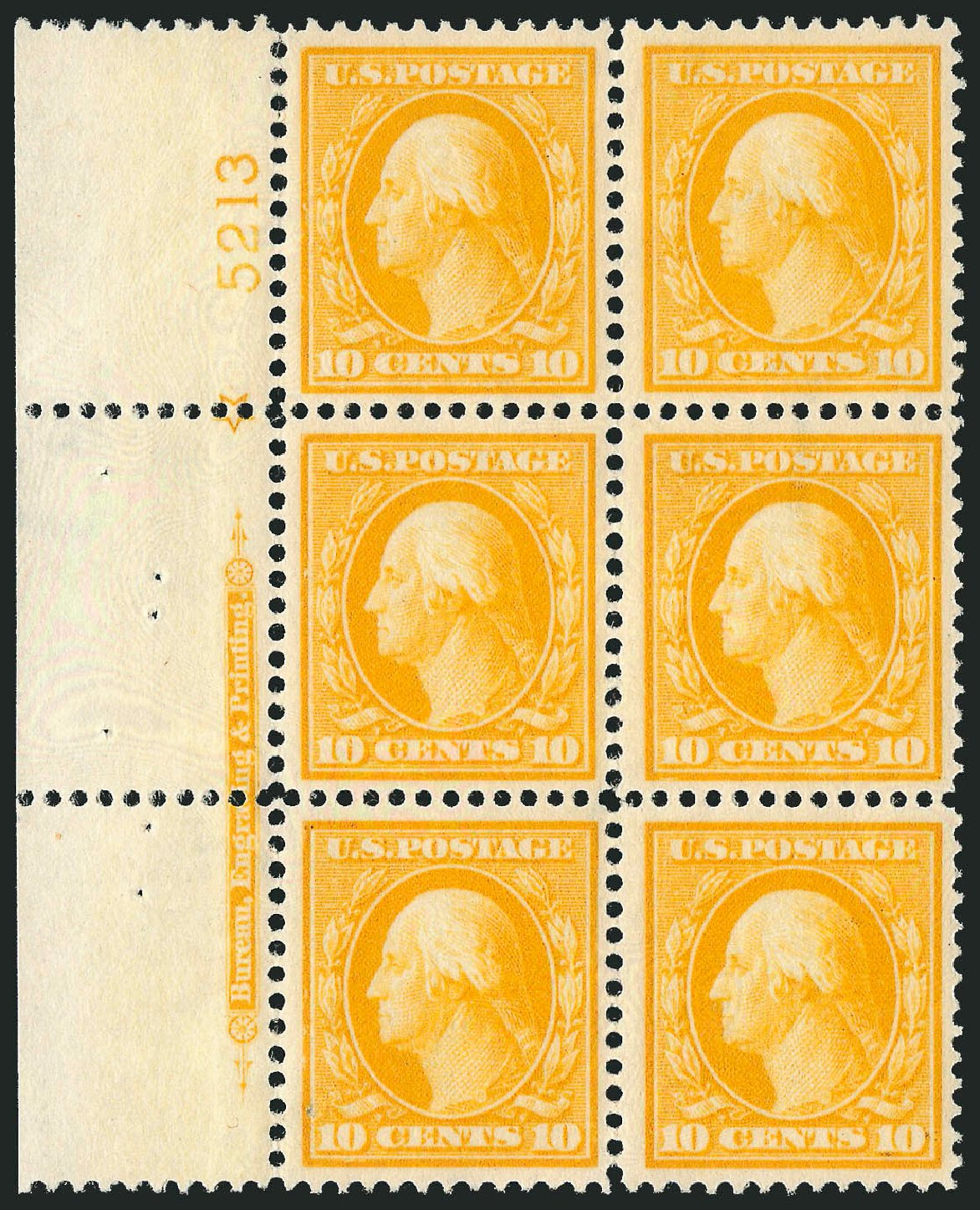 Costs of US Stamp Scott Catalog # 381: 1911 10c Washington Perf 12. Robert Siegel Auction Galleries, Feb 2015, Sale 1093, Lot 191
