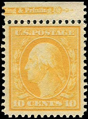 Values of US Stamps Scott Cat. # 381 - 1911 10c Washington Perf 12. Regency-Superior, Nov 2014, Sale 108, Lot 774